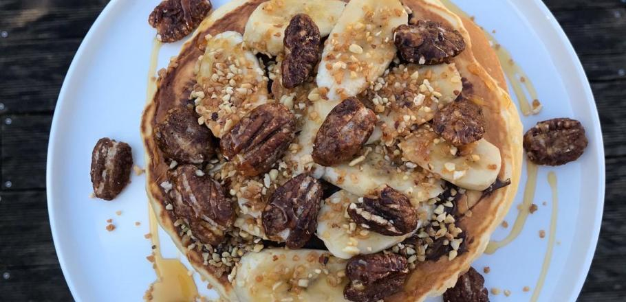 Recipe: pancakes with chocolate spread by Anissa Boulesteix